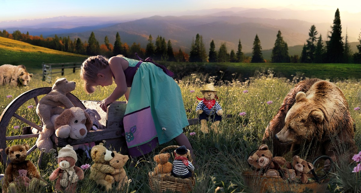 Enter the world of your imagination with your teddy bears.
