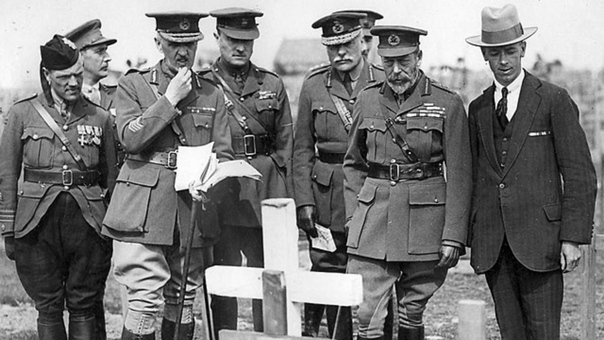 George V during the First World War. He realised that civilian awards were needed.