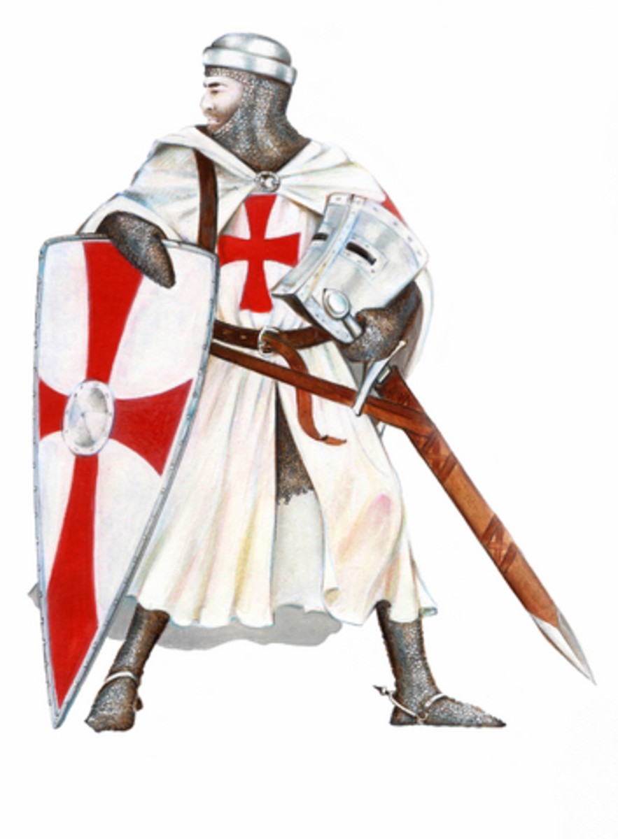 """Death in battle is glorious.""  The red cross represented martyrdom. Drawing by Agnieszkaw@Dreamstime.com"