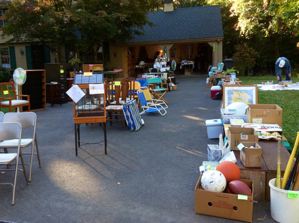 A yard sale is a lot of work, but can be a lucrative fundraiser with some high ticket items.