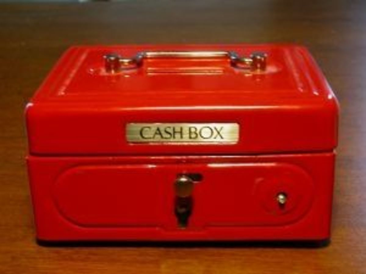 Cash box for your fundraising event.
