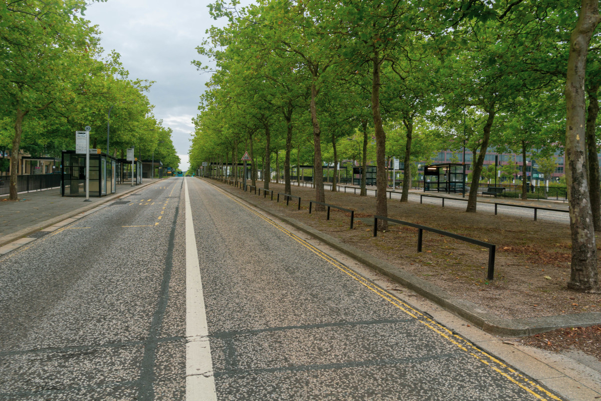 Midsummer Boulevard: one of the key streets as part of the grid of Central Milton Keynes