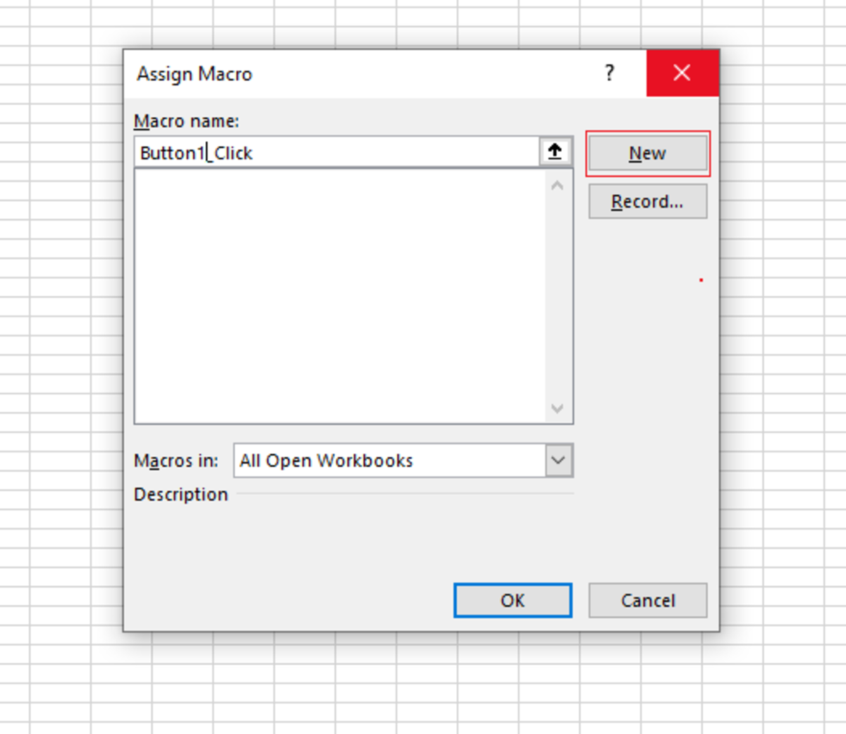 You also have to record macro option. With this option you would click a record button, record yourself clicking sheet tab, and clicking a stop button to end the recording. This is another option to assigning the macro to the button.