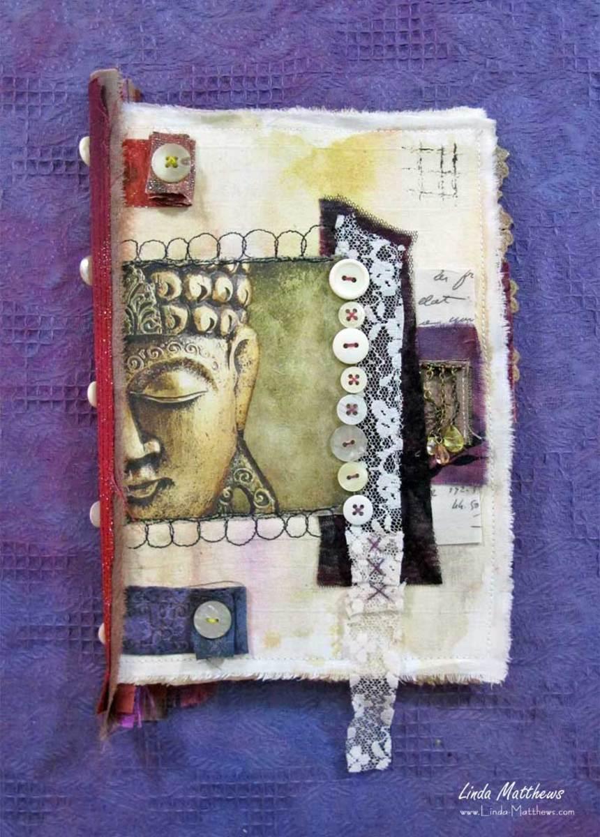 Create a fabric art journal-why not!