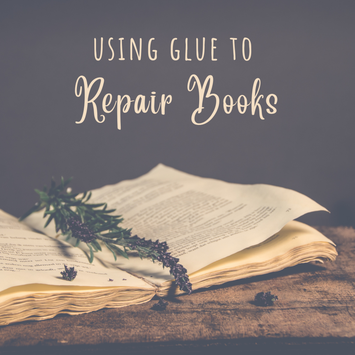 Learn how to repair glue-bound books.