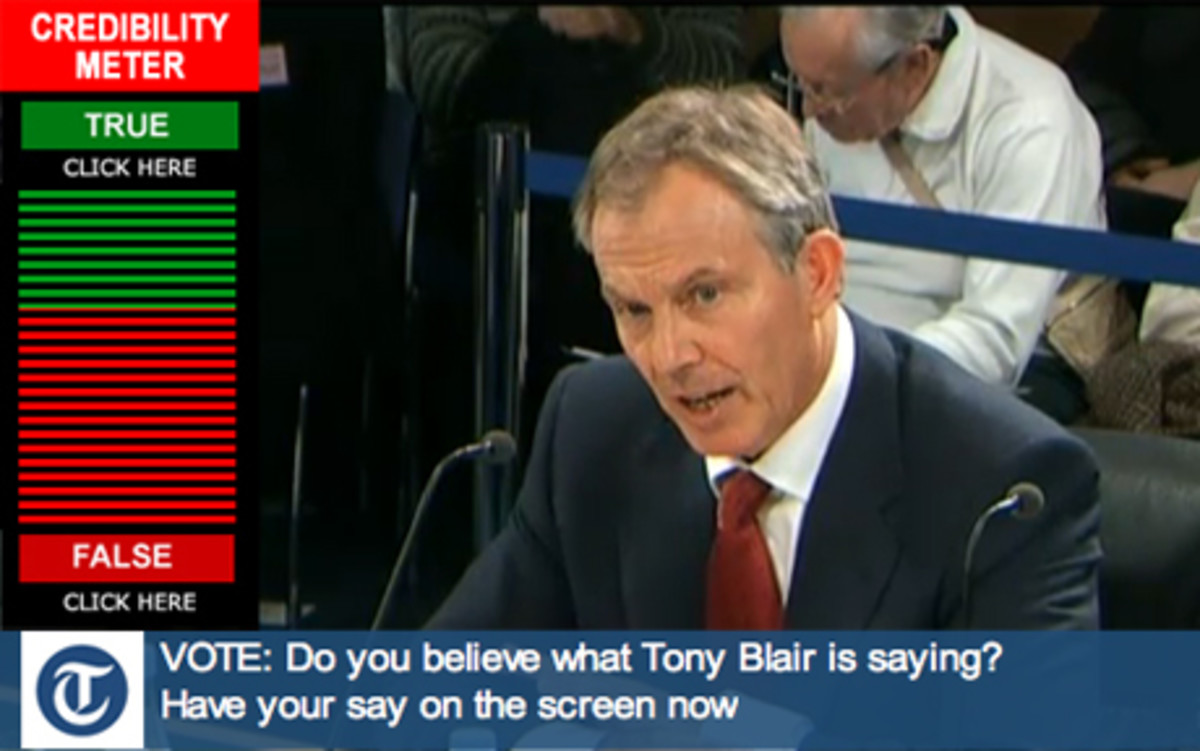 Tony Blair live at the Iraq Inquiry