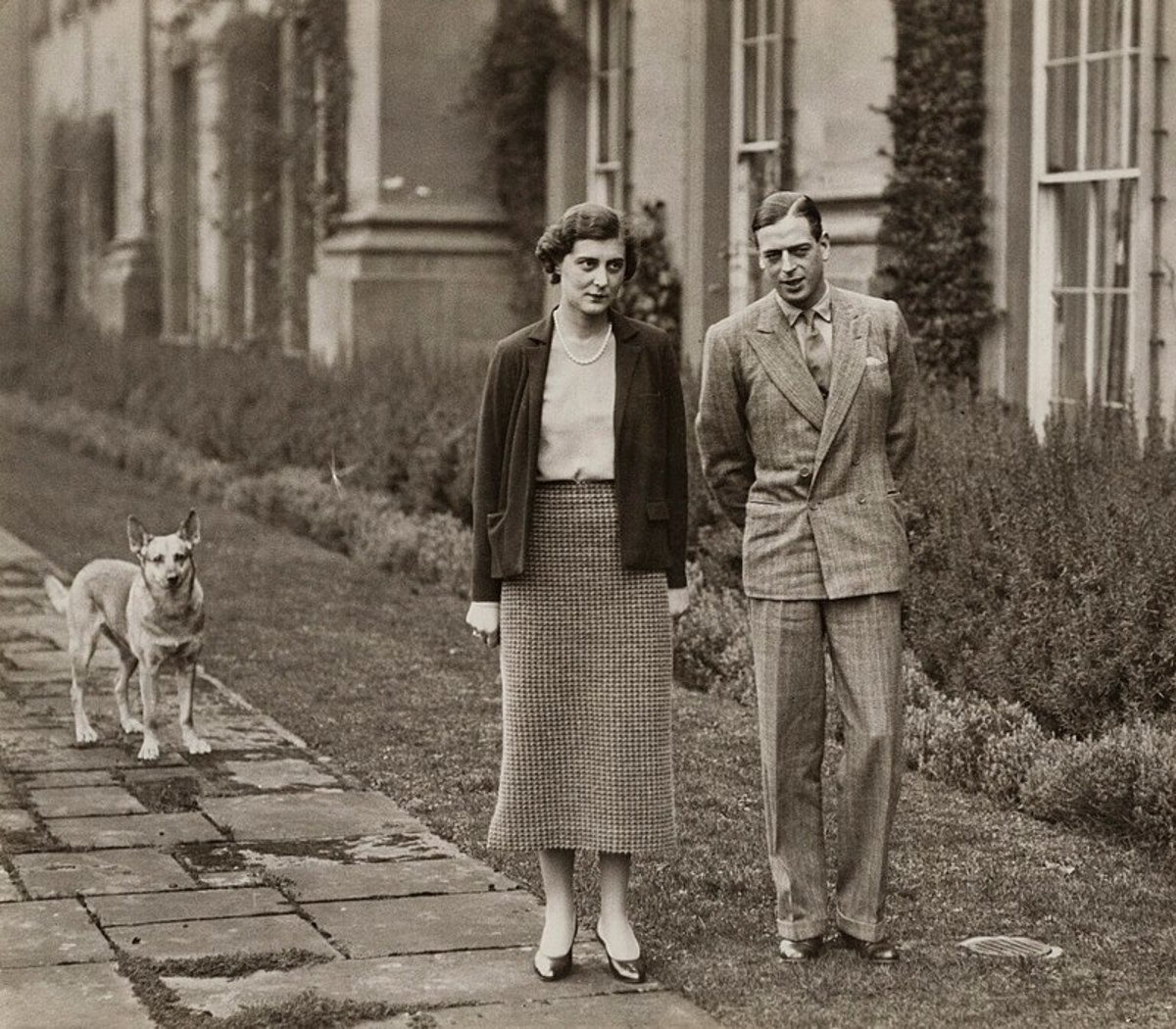 What the royal image makers wanted the public to see; the Duke and Duchess of Kent's wedded bliss in 1934.