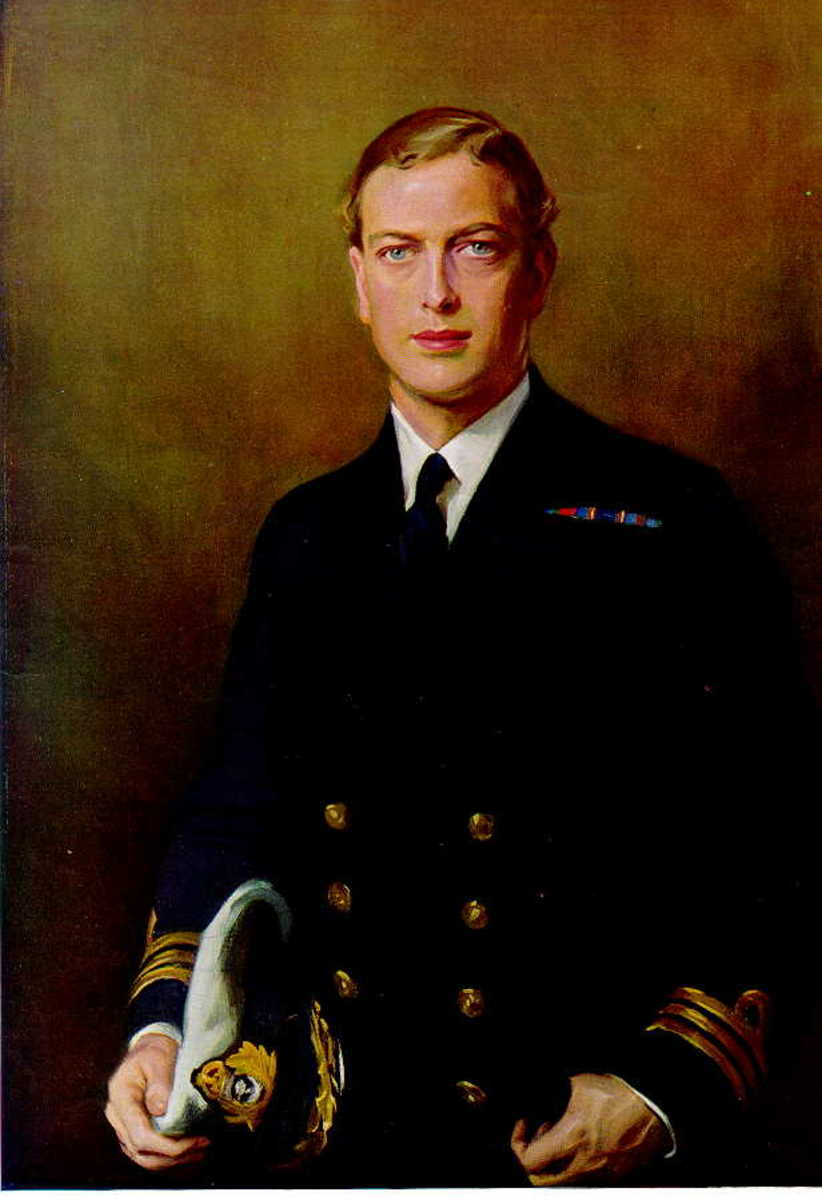 Prince George as the dashing young navy officer.
