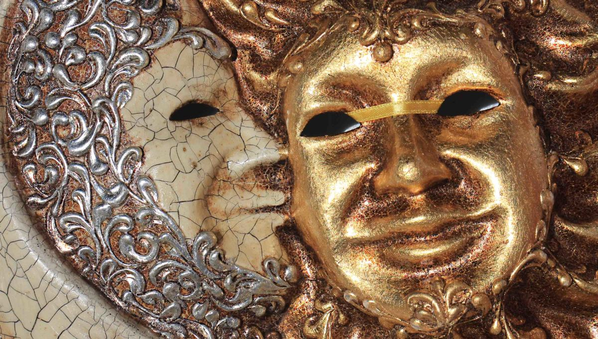 Carnival masks - the Moon and the Sun