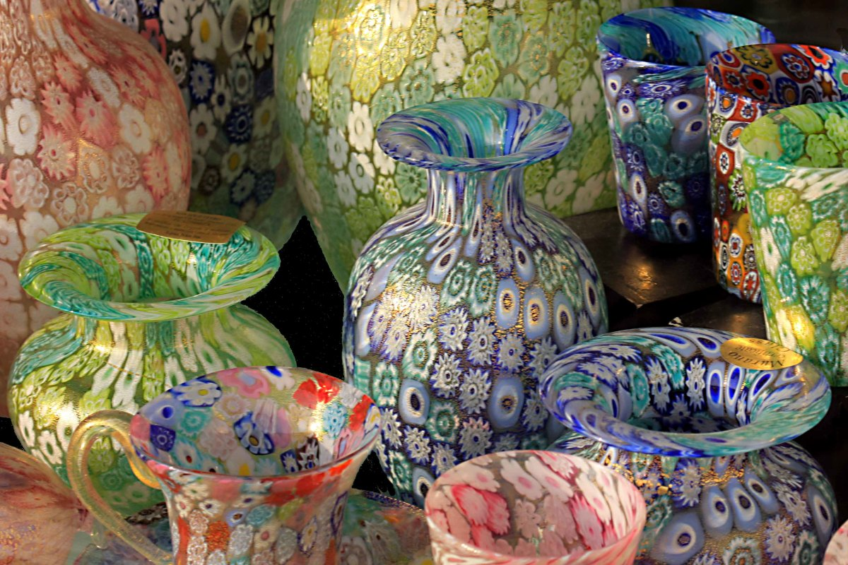 Quality glassware from the island of Murano