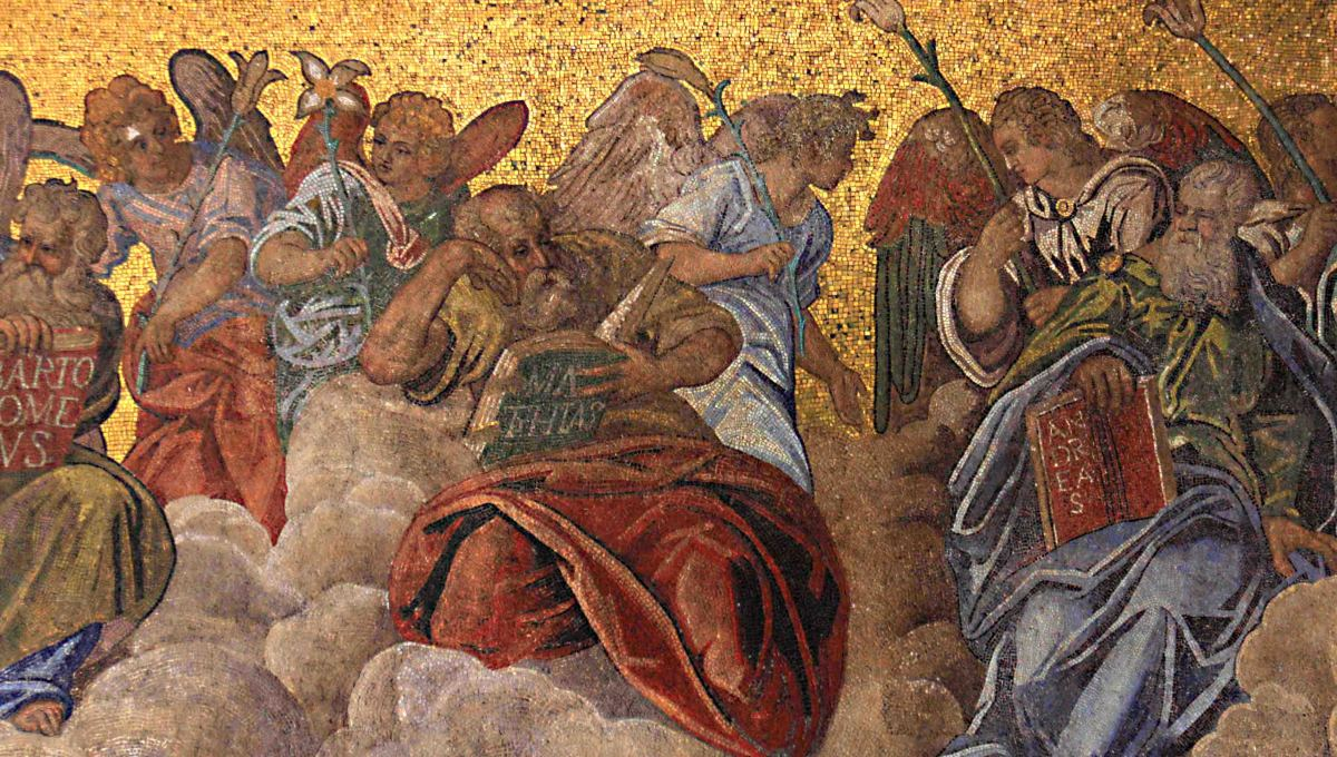 Just part of the detail from the glittering mosaics which adorn the facade of the Basilica