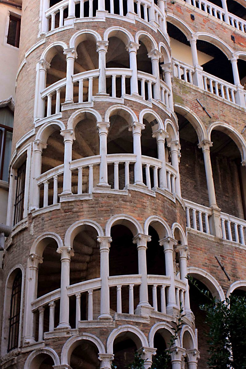 The external staircase of Scala del Bovolo, part of the Palazzo Contarini del Bovolo