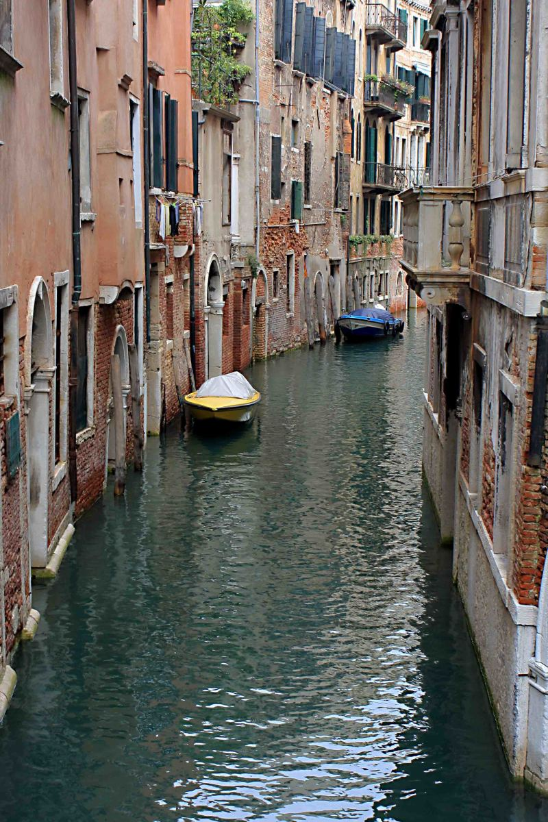Not all canals in Venice are like the Grand Canal. This is much more typical.