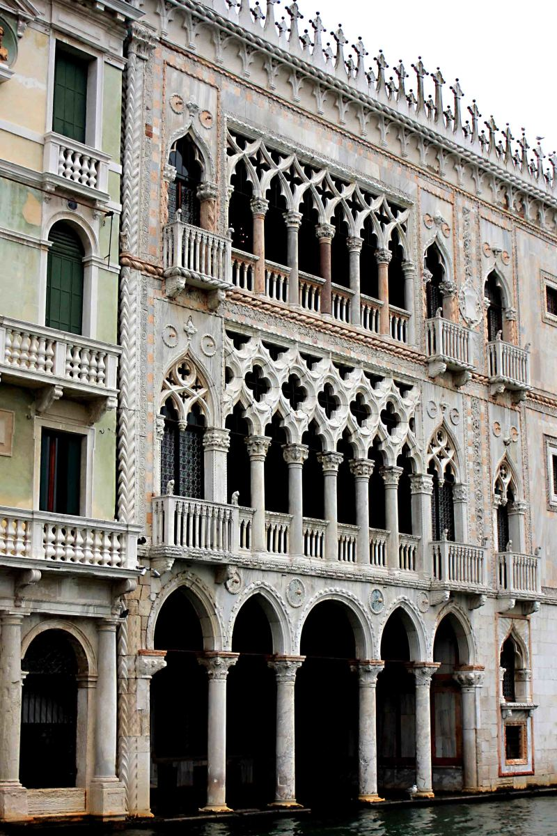 Ca' d'Oro is one of the oldest buildings on the Venetian Grand Canal, dating to 1430 - just one of nearly 200 opulent and impressive buildings along the banks of the canal