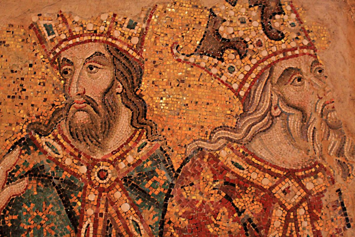 One of the mosaics in the museum