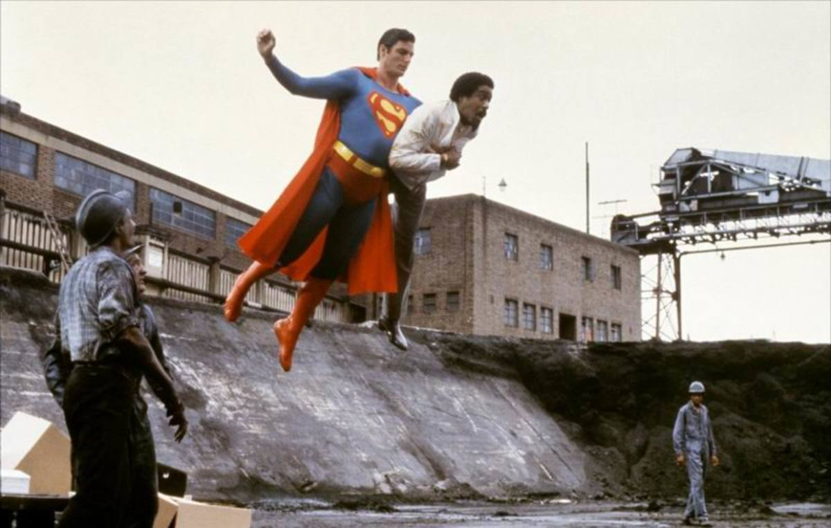 Christopher Reeve and Richard Pryor in Superman III (1983)