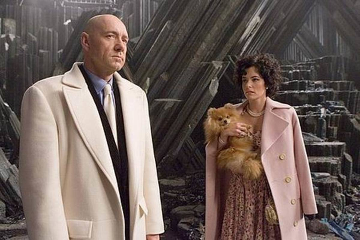 Kevin Spacey and Parker Posey in Superman Returns (2006)