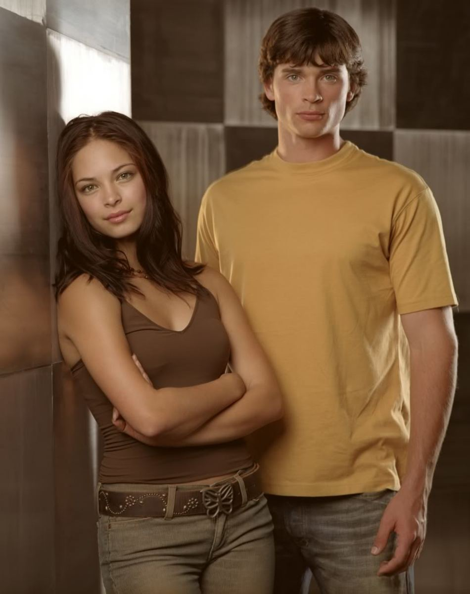 Kristin Kreuk and Tom Welling in Smallville