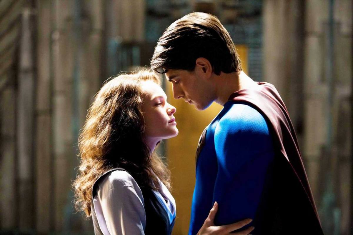 Kate Bosworth and Brandon Routh in Superman Returns (2006)