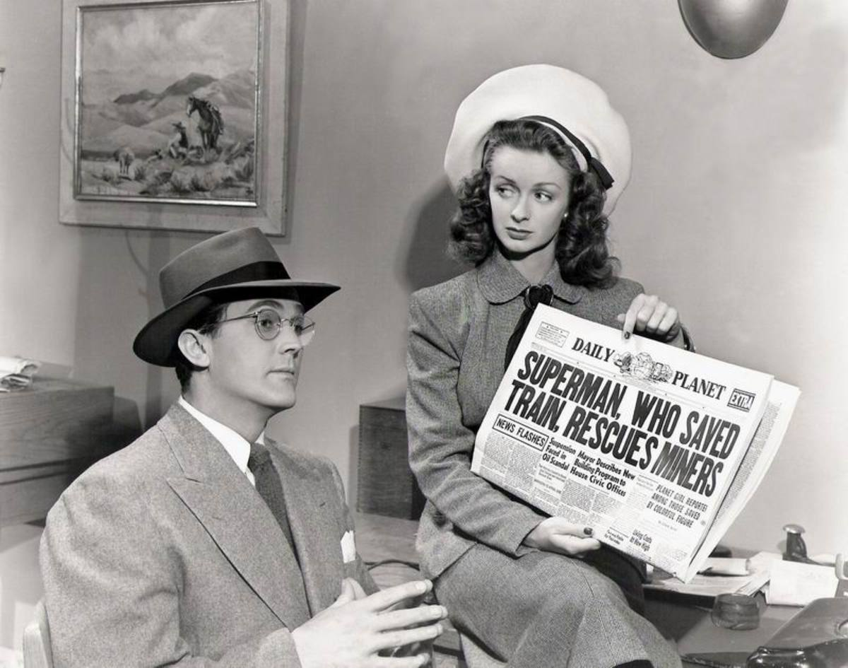 Kirk Alyn and Noel Neill in Superman (1948)