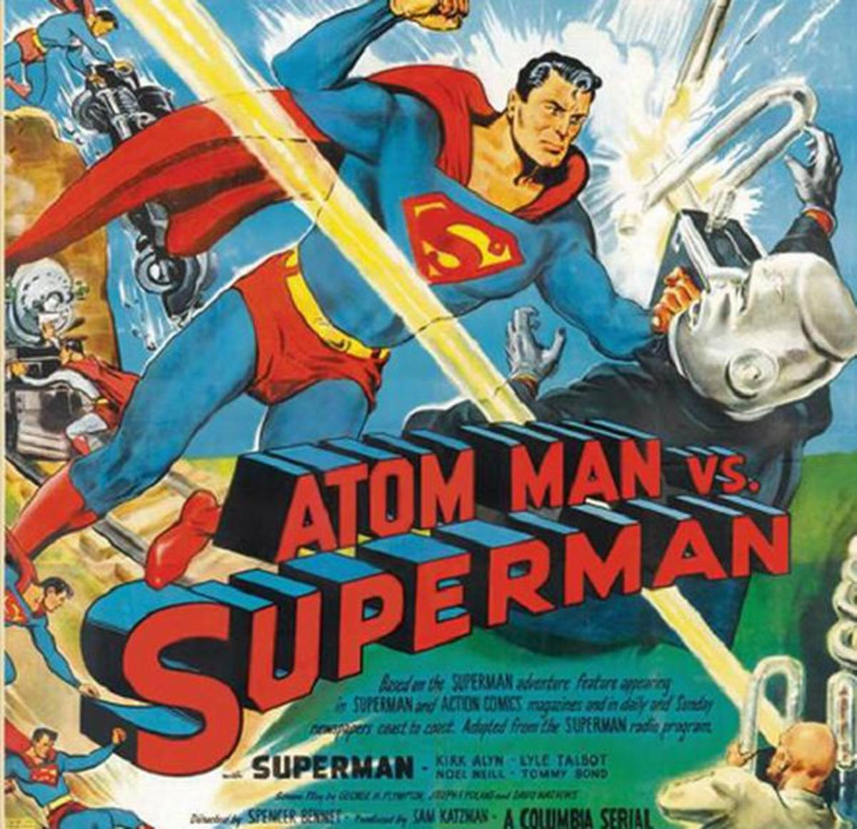 Atom Man vs Superman (1950) poster
