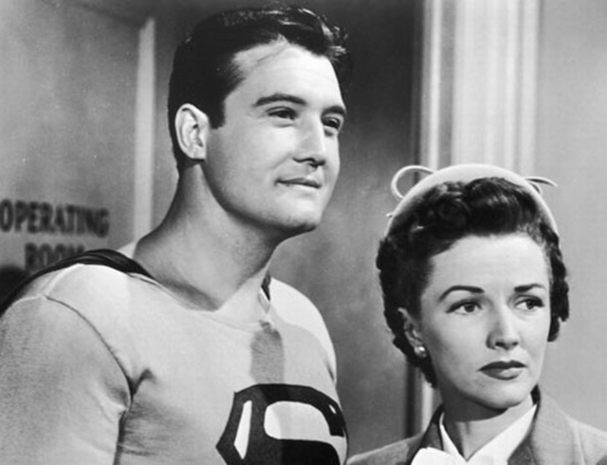 George Reeves with Phyllis Coates in The Adventures of Superman