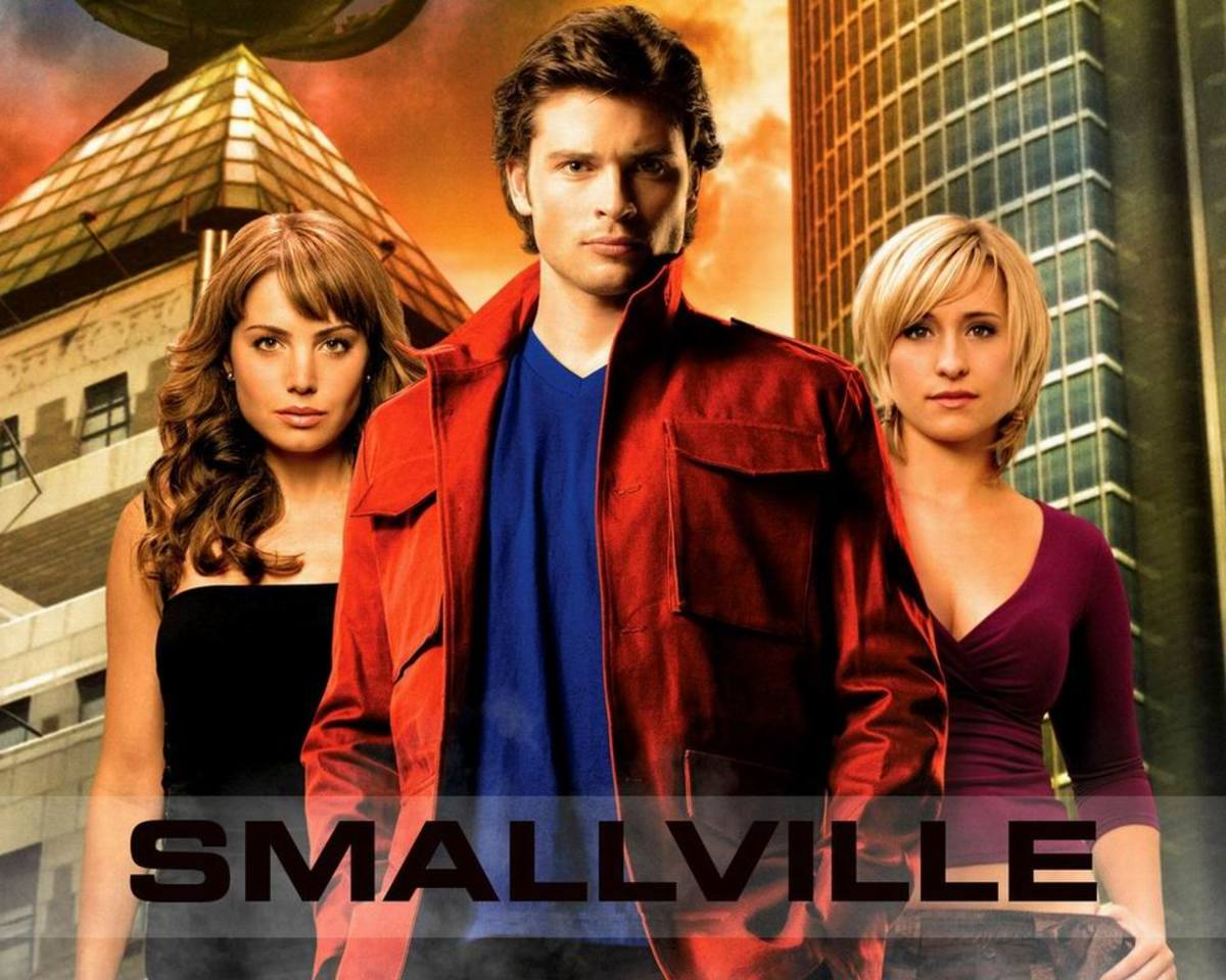 Erica Durance, Tom Welling and Allison Mack in Smallville