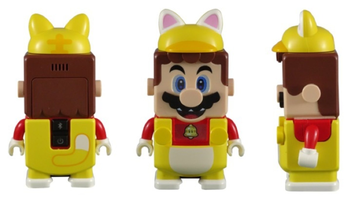 LEGO Mario Character in the LEGO Super Mario Cat Mario Power-Up Pack 71372