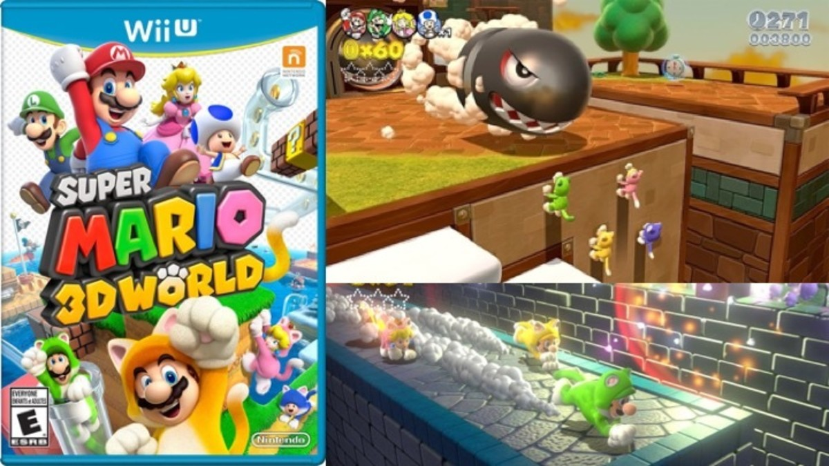 Super Mario 3D World Cat Power-Up Suit Box and Game Play