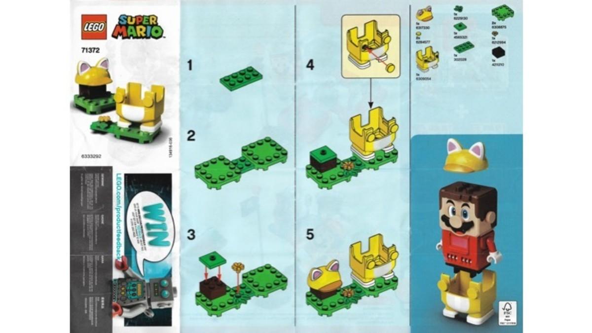 LEGO Super Mario Cat Mario Power-Up Pack 71372 Instructions