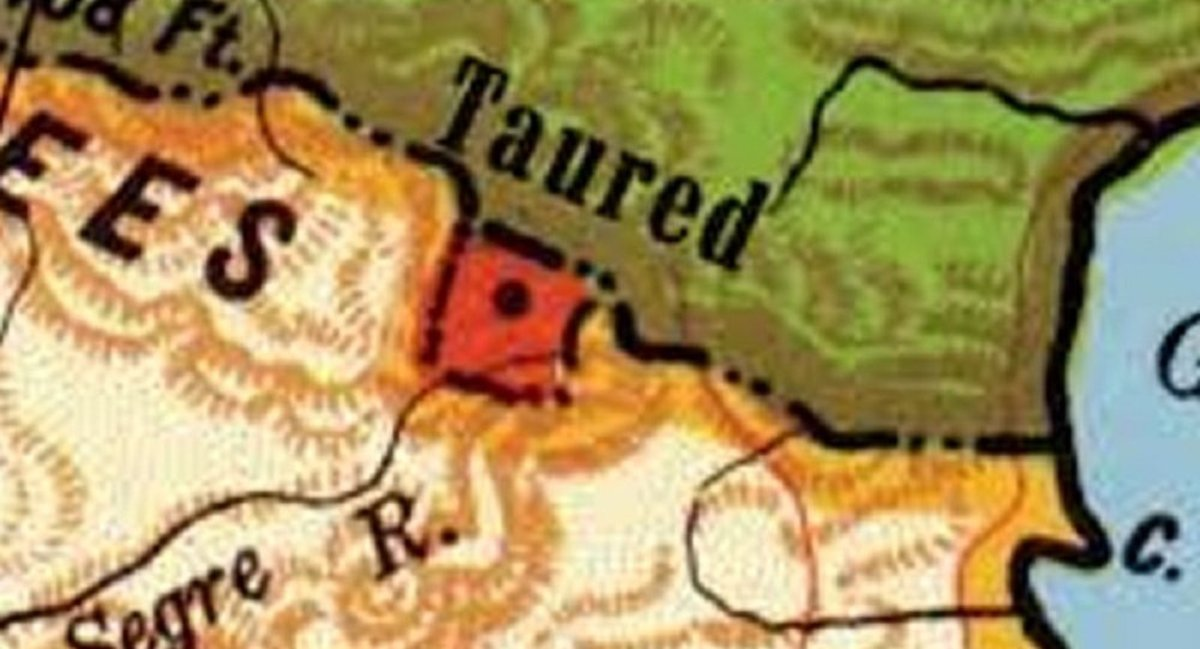 Taured was supposed to exist in an area occupied by the Principality of Andorra, at the border of France and Spain.