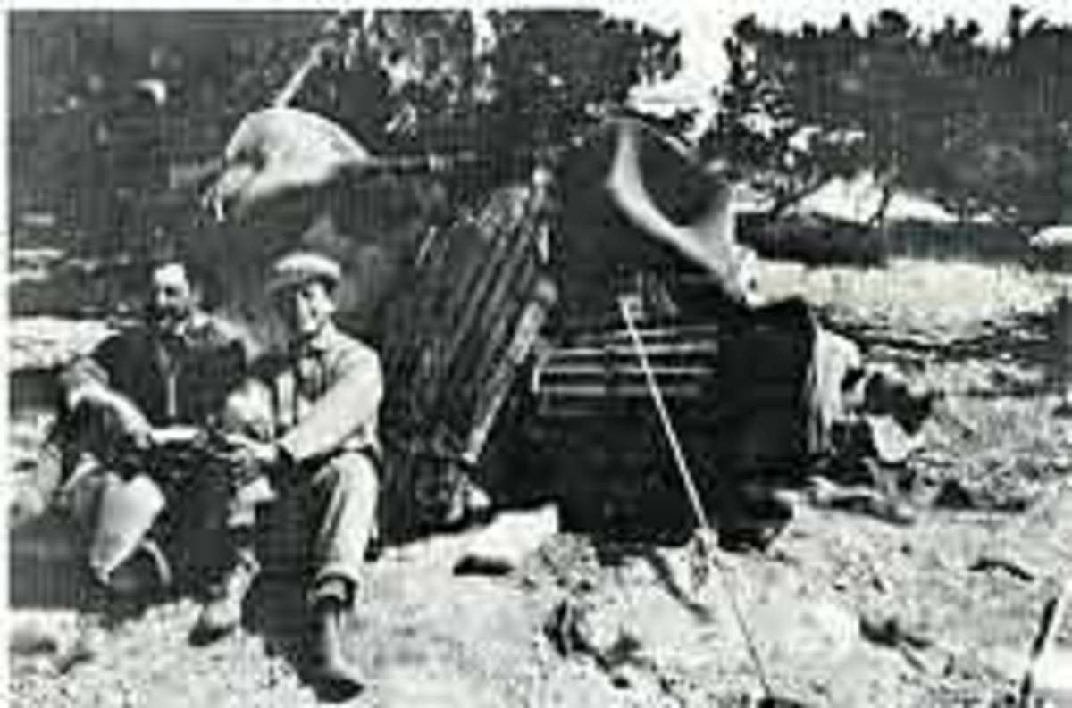 Angstrom and his Assistant, Dr. Kennard, Mt. Whitney, 1913.