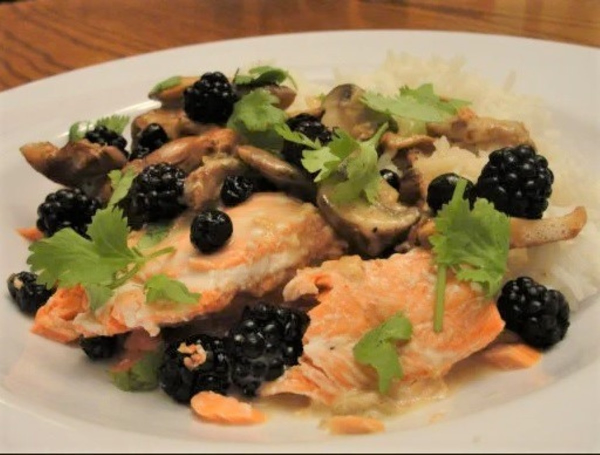 Salmon, Chanterelles, and Wild Berries: A Fabulous Pacific NW Seafood Dish