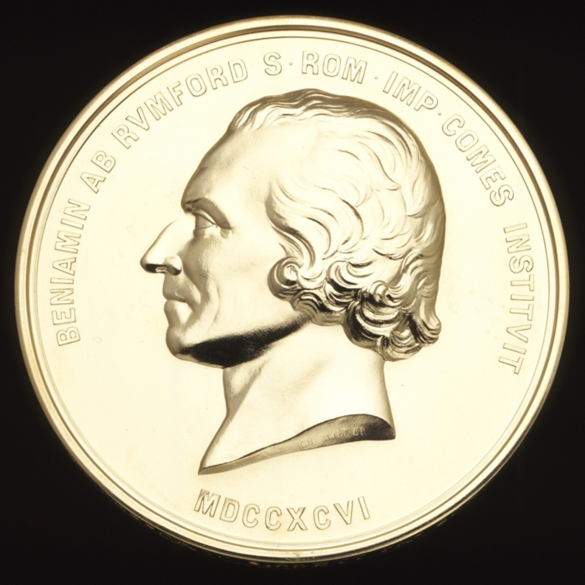 Rumford Medal.  The Royal Society has awarded it biennially since the first years of the 19th century; winners have included some of the most famous names in science.  Image courtesy Royal Society.