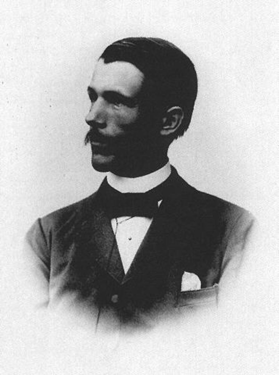 Knut Angstrom as a young man.  Image courtesy University of Frankfurt.