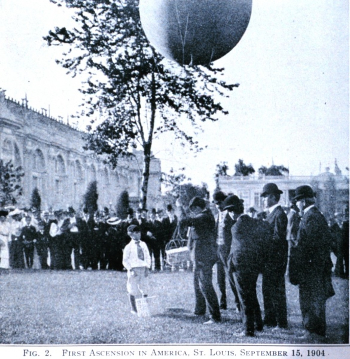America's first balloonsonde flight, 1904.  Image courtesy NOAA.