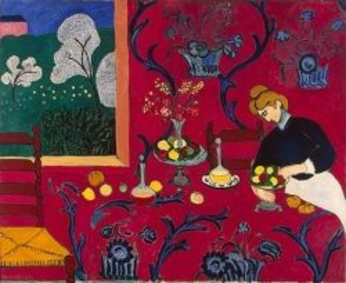 Matisse, The Dessert Harmony in Red (looks like a dining room)