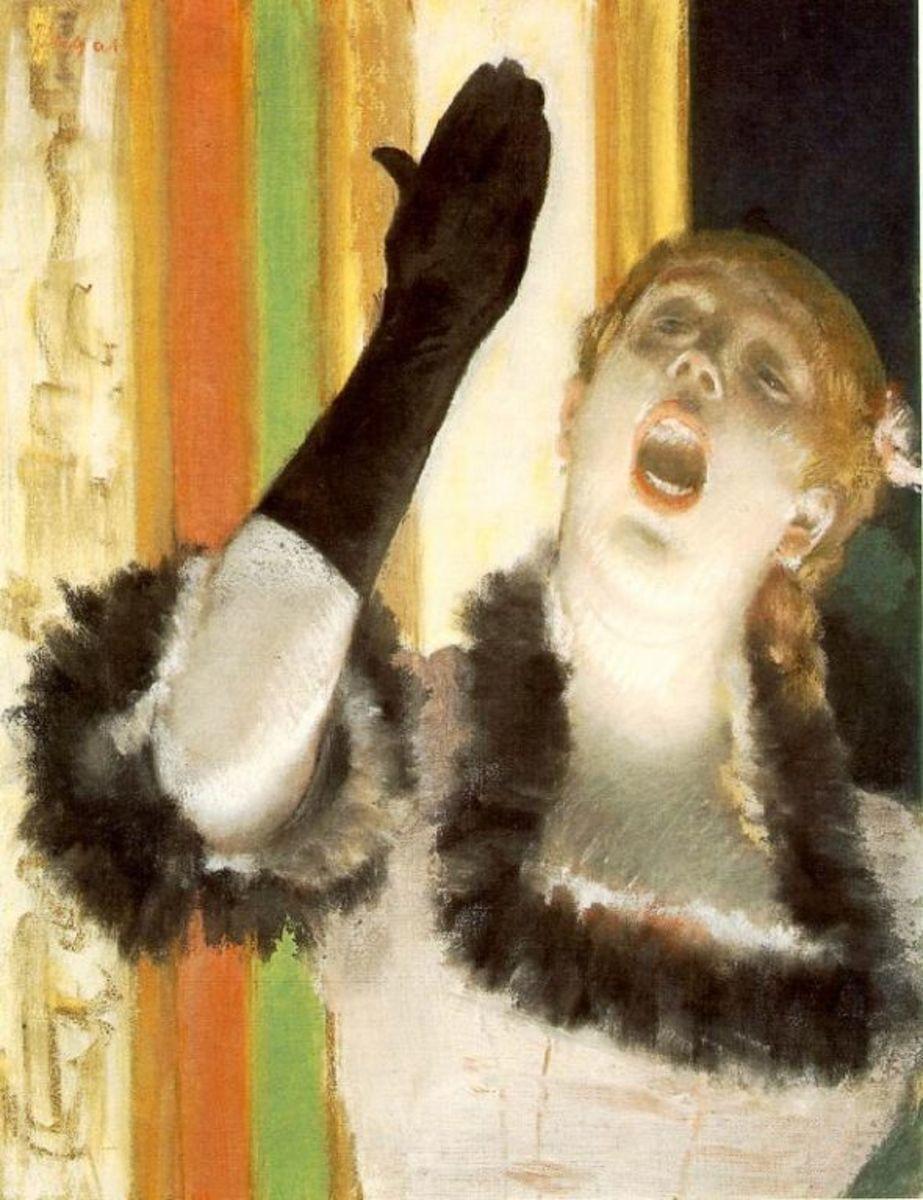 "Degas's ""Singer with a Glove"" - public domain"
