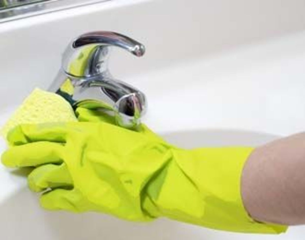 Rubber Gloves at Work! - public domain image