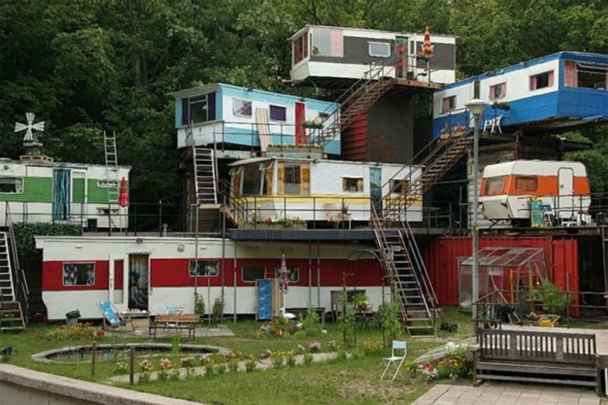 """The """"Redneck Mansion"""" (really a theater set), believed public domain photo"""