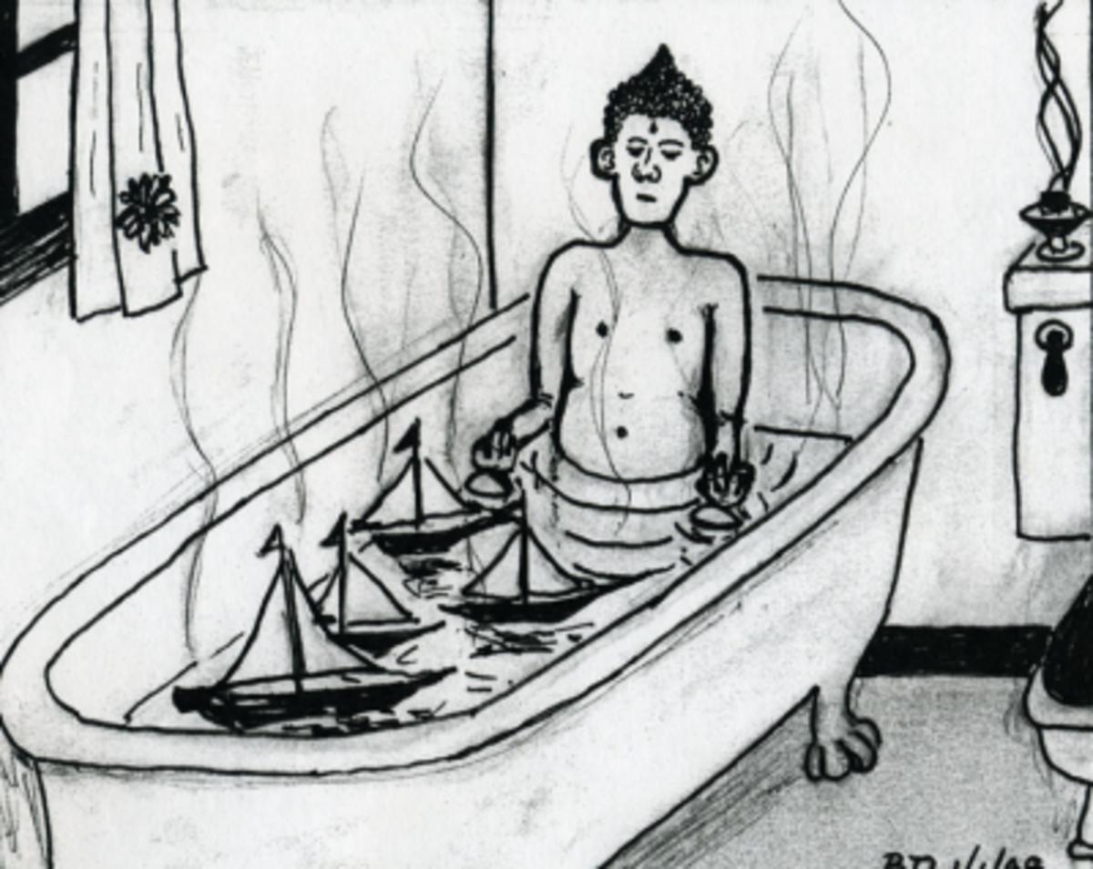 Buddha Contemplating His Navy