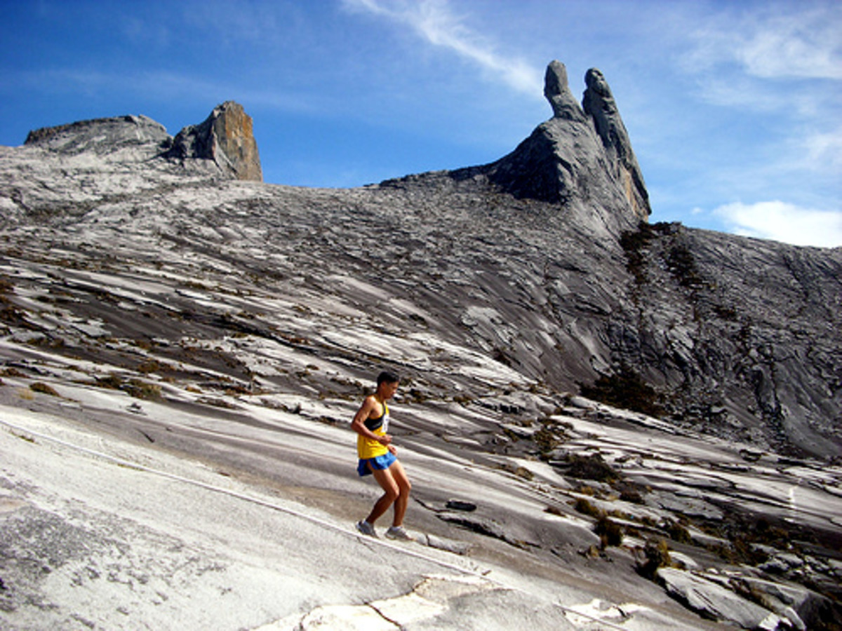 One of the participants at Mt Kinabalu International Climbathon