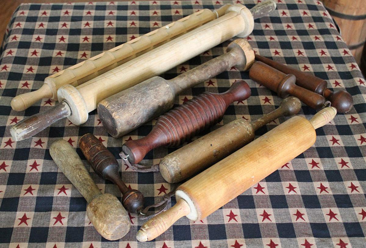 Vintage dough rollers