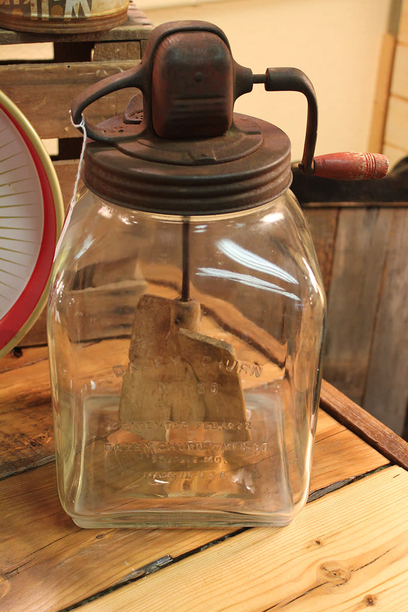 Vintage Daisy Butter Churn