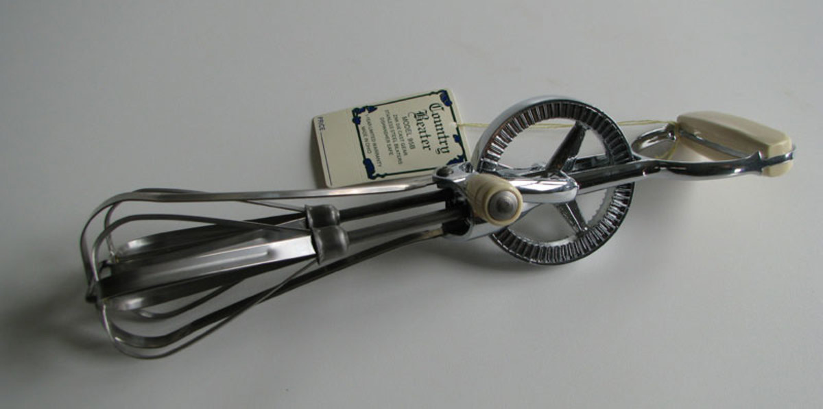 Reproduction Amish Country Egg Beater from Cottage Craft Works.