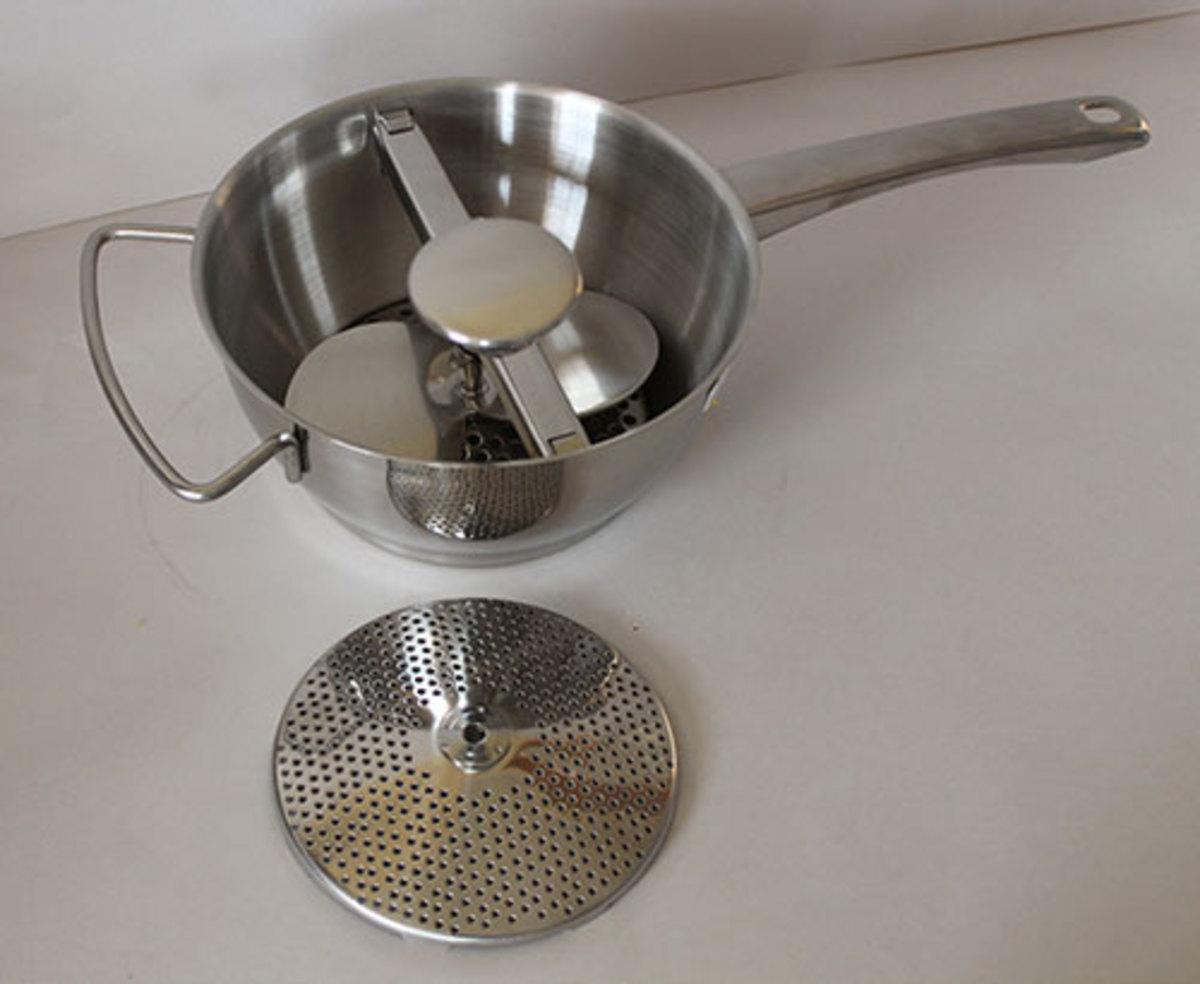 New style pan potato ricer