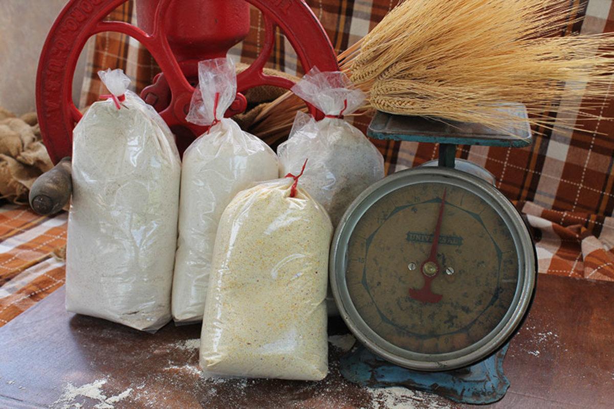 Vintage grain mill used to grind flour