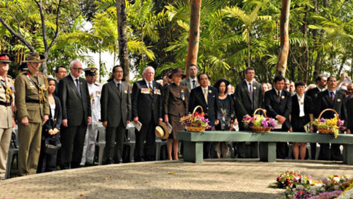 At one of the Sandakan Memorial Serivce