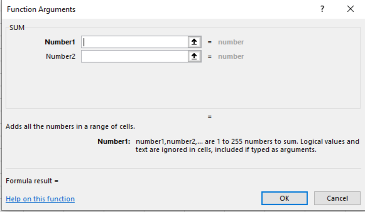 In the above functional arguments window you can add up to 255 different numbers until a memory constant keep you from adding more.