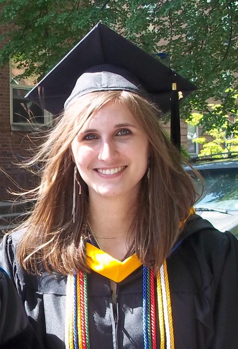 Lauren on college graduation day